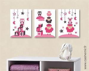 Poster Chambre Bébé : poster pour chambre d 39 enfant et b b fille par lot de 3 rose r b b affiche et illustrations ~ Teatrodelosmanantiales.com Idées de Décoration