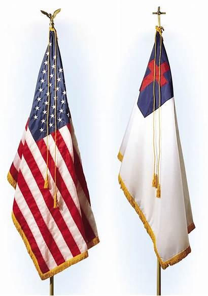 Flag Christian Pledge American Clipart Flags Allegiance