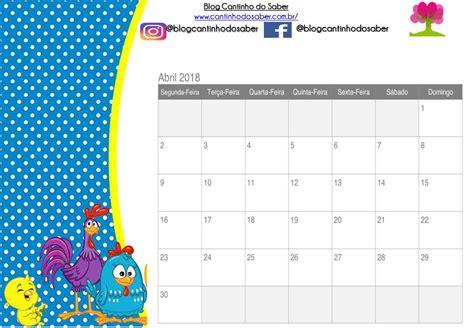 Calendário da galinha Pintadinha Pronto Para Imprimir
