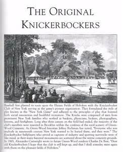 Image result for Knickerbocker Base Ball Club of New York