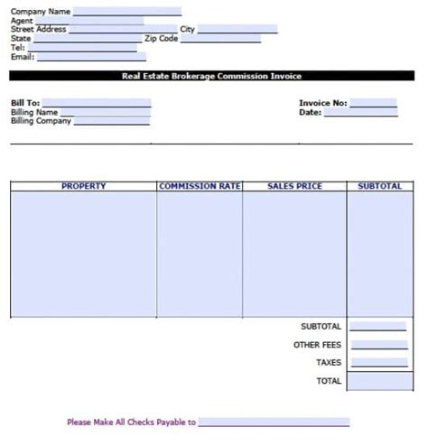 commission invoice template word understanding