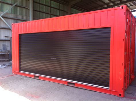 portable metal garage 20ft container access doors windows gateway containers