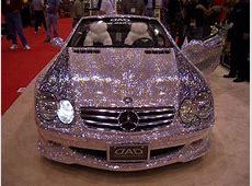 Pink glitter convertible mercedes