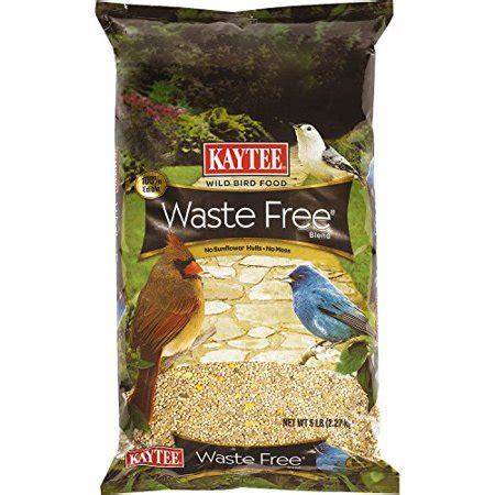 Kaytee Waste Free Bird Seed Blend, 5pound Multicolored