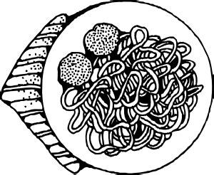 spaghetti  meatballs clip art  clkercom vector