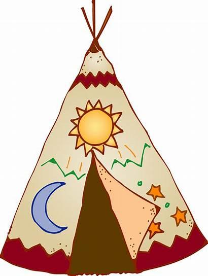 Teepee Clipart Native American Tipi Indians Cartoon