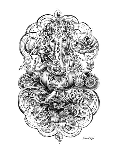 Bennett Klein | colouring in | Pinterest | Tattoo, Ganesh tattoo and Tatoo