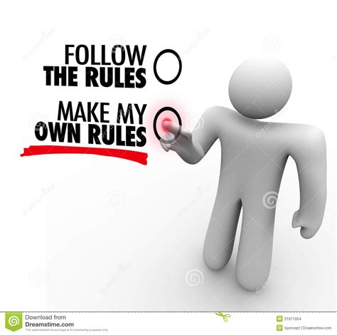 Follow Or Make My Own Rules Vote Choose Freedom Stock