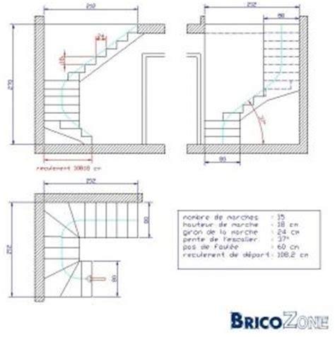 schema escalier 2 quart tournant