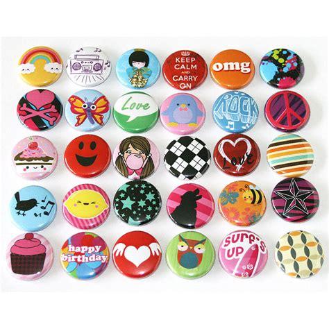 Pop Fun Kids Party Badges x 30 Button Pins Wholesale Lot