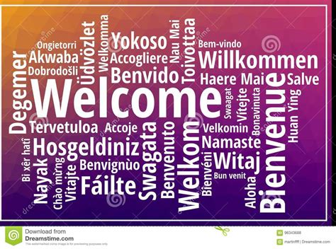 Welcome Sign On Low Polygonal Background Stock Vector ...
