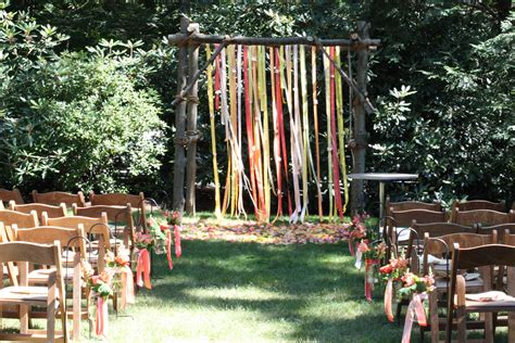 rustic backyard wedding  wilton blush floral design