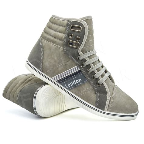 mens designer boots mens designer hi high tops ankle trainers boots flat