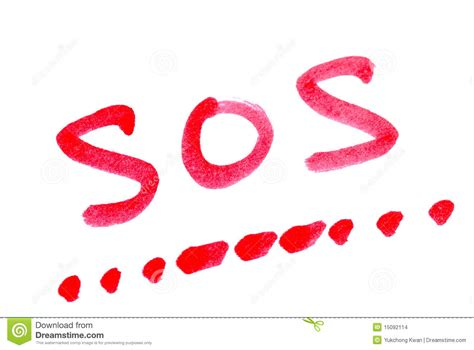 Write SOS With Its Morse Code Stock Photo - Image of ...