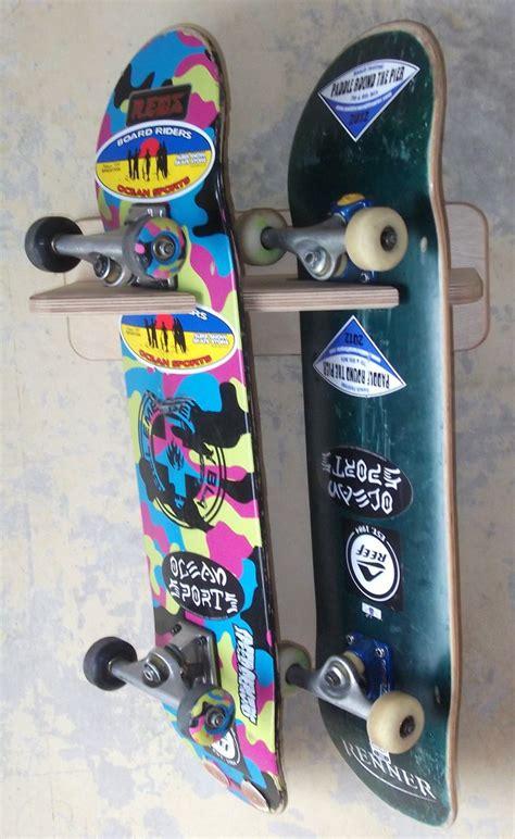Diy Skateboard Deck Wall Mount by 25 Best Ideas About Skateboard Rack On Bike