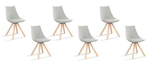 lot de 6 chaises grises lot chaises grises scandinave garantie satisfaction 60 jours