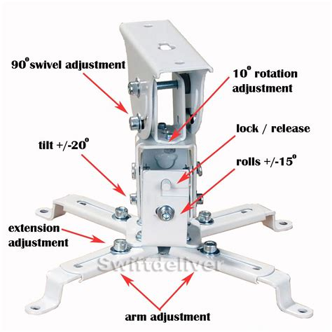 Epson Universal Projector Ceiling Mount Manual by Universal Dlp Lcd Projector Ceiling Mount Bracket