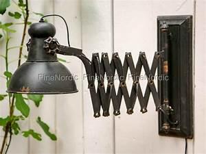 Lampen Für Die Wand : chic antique lampe f r die wand factory antik schwarz ~ Markanthonyermac.com Haus und Dekorationen
