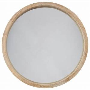 Rond En Bois : miroir rond bois scandinave 52cm marron ~ Teatrodelosmanantiales.com Idées de Décoration