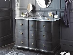 Meuble Vasque Retro : tendance un meuble ancien dans la salle de bains le journal de la maison ~ Teatrodelosmanantiales.com Idées de Décoration