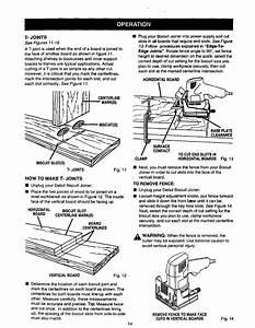 Craftsman 315175500 User Manual Detail Biscuit Joiner