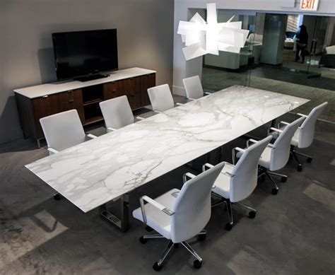 marble conference contemporary conference table ambience doré
