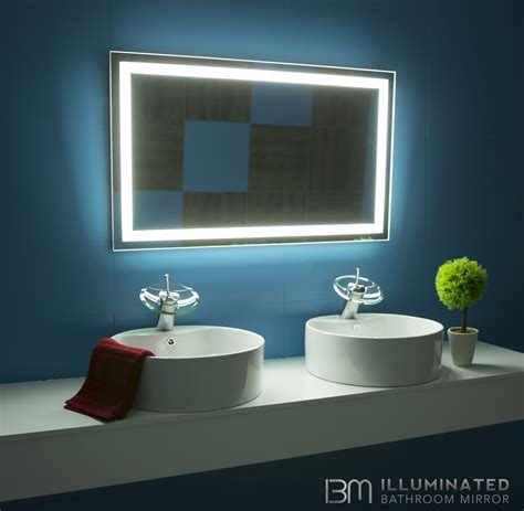 Backlit Bathroom Mirror Canada by Backlit Bathroom Mirror Rectangle 40 X 24 In Products