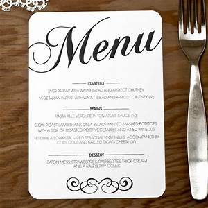 vintage wedding menu doodlelove With images of wedding menu cards