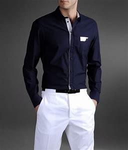 Emporio armani Regular Fit Shirt in Oxford Cotton in Blue ...