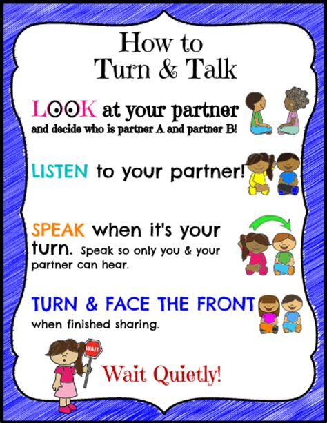 Printable  How To Turn And Talk Simplek12