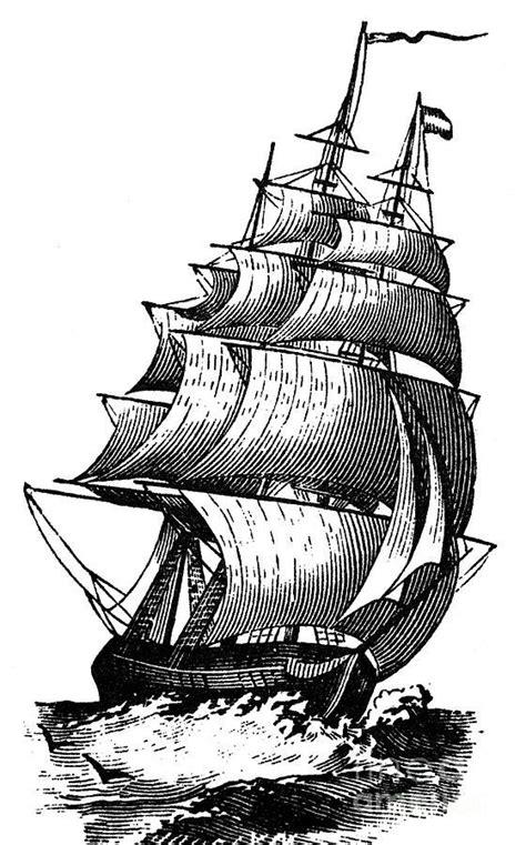 Clipper Ship, 19th Century   Ship drawing, Pirate ship