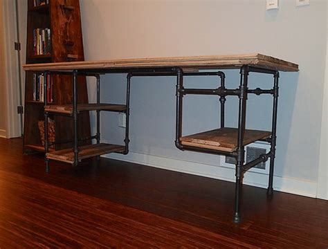 black iron pipe desk desk 07 frame made from quot black iron pipe flickr