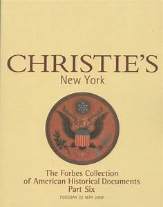 christie39s the forbes collection of american historical With american historical documents for sale