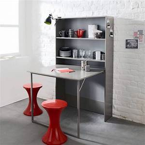 meuble de rangement avec table escamotable 3 suisses With meubles pour petits espaces 2 le bureau escamotable decisions pour les petits espaces