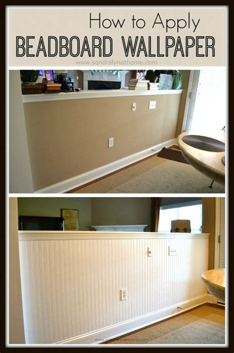 How To Apply Beadboard Wallpaper  Sondra Lyn At Home