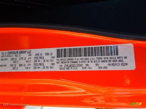 paint color orange crush ford orange crush pearl paint code