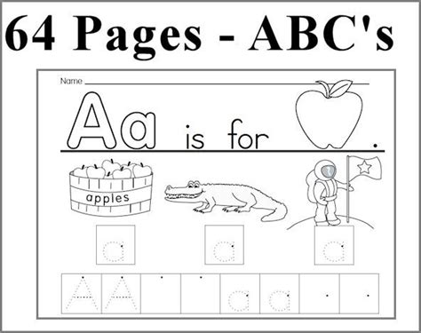 Kearn To Write Alphabet  Abc Unit 64 Pages Learn To Write Each Letter  How To Pinterest