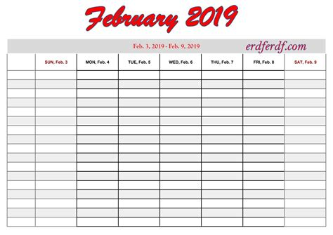 printable  calendar  week calendar template printable