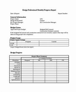Progress Report Template - 50+ Free Sample, Example ...