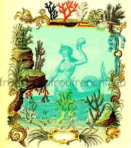French Vintage Mermaid Illustration