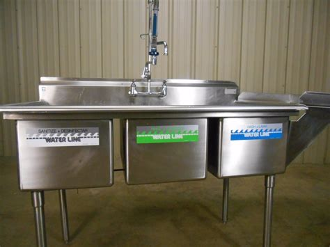 the correct order of a three compartment sink is 3 compartment sink procedure sinks ideas