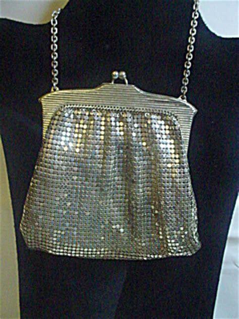whiting davis silver mesh evening pursebag purses