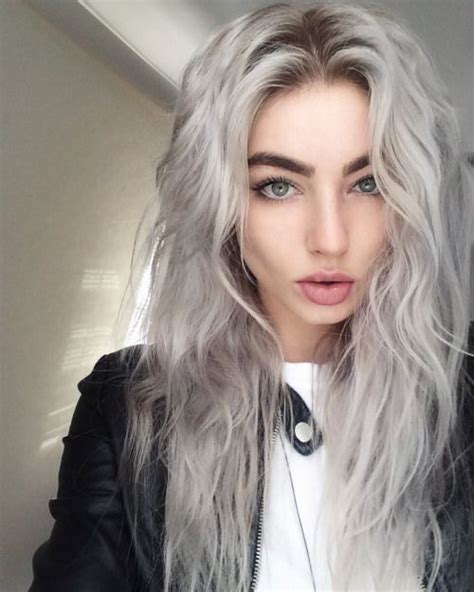 White Color Hair by 28 Trendy Grey Hair Color Ideas To Rock Styleoholic
