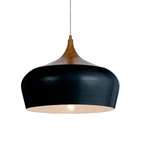 telbix polk 46 large pendant light oak black