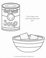 Coloring Chicken Noodle Soup Noodles Germs Spreading Colouring Kid Sick Grade sketch template