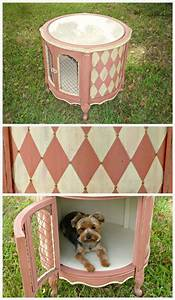 designer dog crate finally had the perfect piece to paint With decorative dog crates