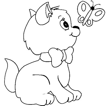 printable pictures coloring pages  kids cat