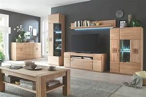 Wohnzimmer Wohnwand Holz