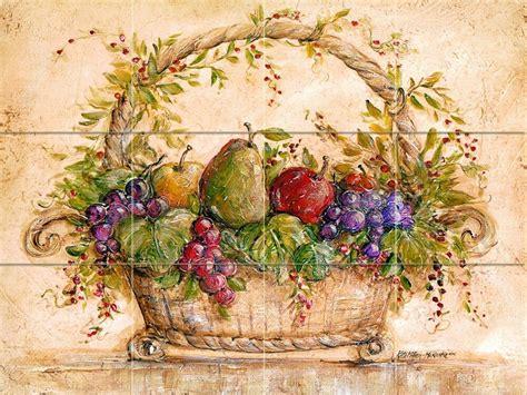 art mural tumbled marble fruits backsplash tile  ebay