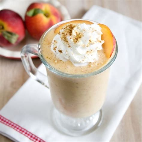 Peachy Keen Peach Cobbler Milkshake Recipe Munchin